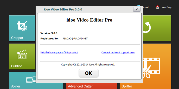 Idoo Video Editor Pro 3.7 Serial Key- Register Code